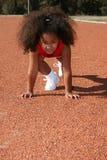 Menina pequena dos esportes fotos de stock royalty free