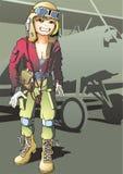 Menina-piloto Imagem de Stock