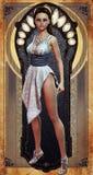 Menina Pin-acima no vestido enchido diamante Imagem de Stock Royalty Free