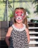 Menina pintada como um gato Imagem de Stock Royalty Free