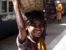 Menina pobre indiana Imagens de Stock Royalty Free