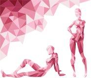 Menina poligonal ilustração do vetor