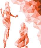 Menina poligonal ilustração royalty free