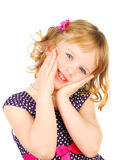 Menina pouco muito feliz Fotografia de Stock