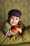Menina pré-escolar bonito Fotos de Stock Royalty Free
