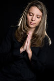 Menina Praying Fotografia de Stock Royalty Free