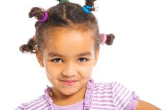 Menina preta pequena Foto de Stock