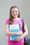 Menina pronta para a escola Fotografia de Stock Royalty Free