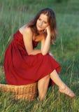 Menina provincial Fotos de Stock Royalty Free
