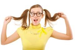 Menina provocante com caudas Imagens de Stock