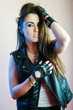 Menina punk bonita nova Fotos de Stock Royalty Free
