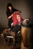 Menina punk com cabeleireiro imagem de stock
