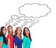Menina quatro pensativa Imagens de Stock Royalty Free