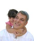Menina que abraça seu paizinho Imagem de Stock Royalty Free
