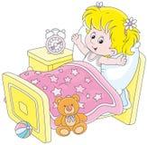 Menina que acorda Imagem de Stock
