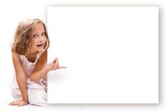 Menina que aponta Fotos de Stock