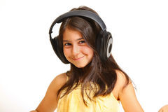 Menina que aprecia a música Foto de Stock Royalty Free