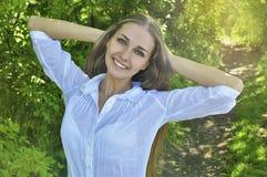 Menina que aprecia o verão Fotografia de Stock