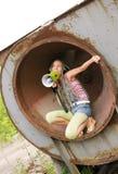 Menina que canta no anel 2 Fotos de Stock