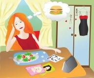 Menina que come o alimento saudável Imagens de Stock Royalty Free