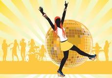 Menina que dança 5 Imagem de Stock Royalty Free