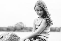 Menina que daydreaming Foto de Stock