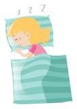 Menina que dorme no descanso Imagens de Stock