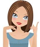 Menina que fala e que gesticula Imagens de Stock