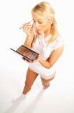 Menina que faz a composição Imagem de Stock Royalty Free