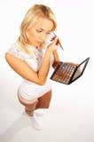 Menina que faz a composição Fotografia de Stock Royalty Free