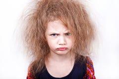Menina que faz a face irritada Imagem de Stock Royalty Free
