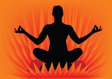 Menina que faz a ioga ilustração royalty free