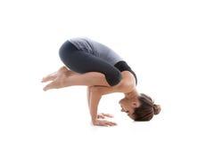 Menina que faz o handstand Foto de Stock