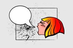 Menina que grita Imagens de Stock