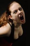 Menina que grita Imagens de Stock Royalty Free