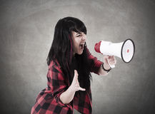 Menina que grita Imagem de Stock