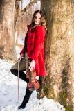 Menina que guarda violine nas mãos Fotografia de Stock
