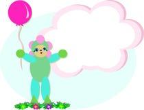 Menina que guardara um balão Imagens de Stock Royalty Free