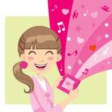 Menina que joga os jogos video Imagem de Stock Royalty Free