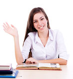 Menina que levanta a mão Imagens de Stock Royalty Free