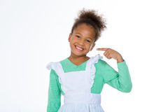 Menina que mostra um sorriso Imagem de Stock
