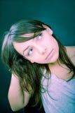 Menina que olha ao lado Foto de Stock Royalty Free