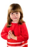 Menina que praying para? Fotografia de Stock Royalty Free