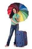 Menina que prepara-se para suas férias Imagens de Stock Royalty Free