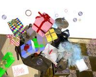 Menina que recebe presentes do céu Imagem de Stock Royalty Free