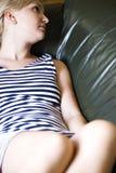 Menina que relaxa Imagem de Stock