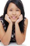 Menina que relaxa Imagens de Stock Royalty Free