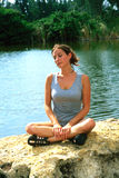 Menina que relaxa Imagens de Stock