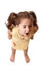 Menina que shouting, ou birra Fotos de Stock Royalty Free