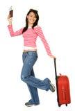 Menina que vai em férias Fotografia de Stock